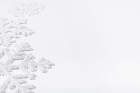 abstrakte muster: Winter. Wei�e Schneeflocke in Details