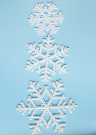 details: Winter. White snowflake in details Stock Photo