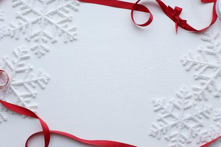 white winter: Winter. White snowflake in details Stock Photo
