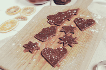 cookie baking: Cuisine. Delicious gingerbread cookie baking