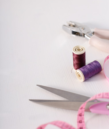 sewing tools: Sewing tools on the table