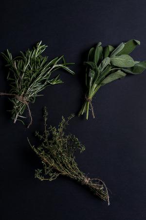 kulinarne: Culinary. Herbs on the table Zdjęcie Seryjne