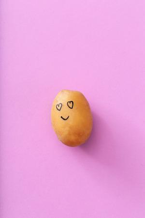 friend  nobody: Art. Funny potato on a purple background