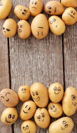 friend  nobody: Art. Funny potato on the table