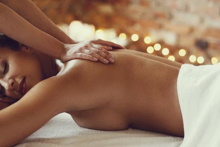 Leisure. Woman in spa salon Stock Photo