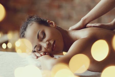 Freizeit. Frau im Wellness-Salon