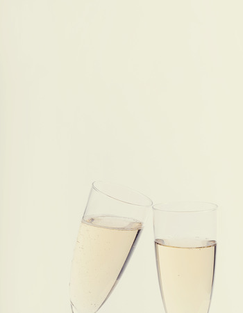 alcoholic drink: Alcoholic drink. Champagne on a white background Stock Photo