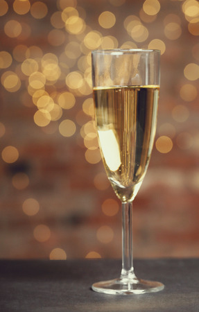 alcoholic drink: Alcoholic drink. Champagne on the table Stock Photo