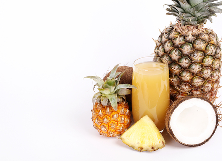 refreshing: Refreshing pineapple juice on the table