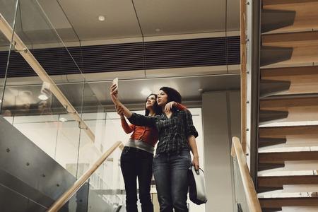 lovely women: Lovely women doing selfies together