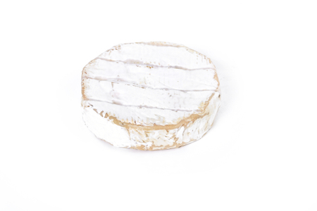 camembert: Camembert cheese on a white background Stock Photo