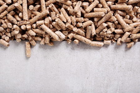 wood pellets: Resource. Pellets on the table
