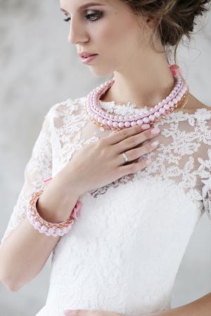 life event: Beautiful bride in wedding dress