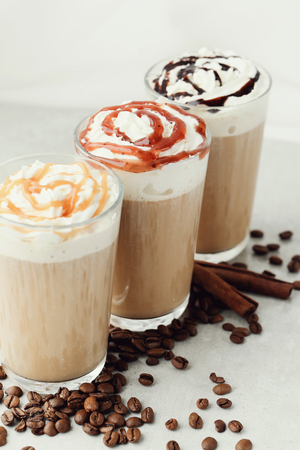 frappe: Drink. Coffee frappe on the table