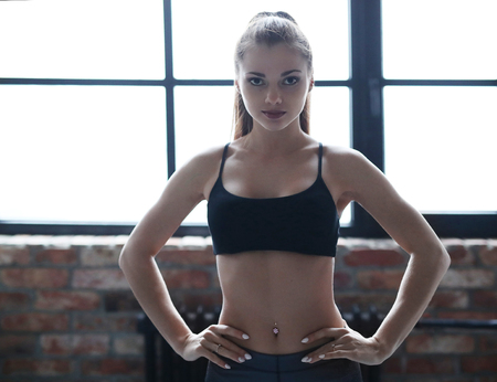 Woman in the gym Stock Photo