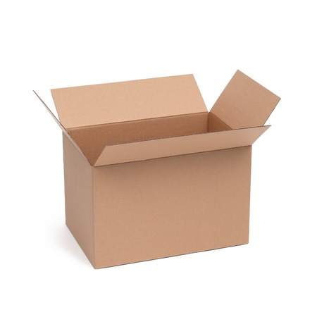 moving crate: Cardboard box Stock Photo