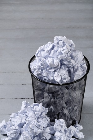 worthless: Creased paper