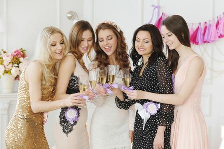 Team bride Zdjęcie Seryjne