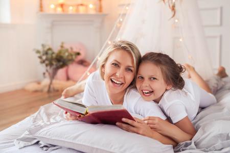 bedtime story: Family Stock Photo