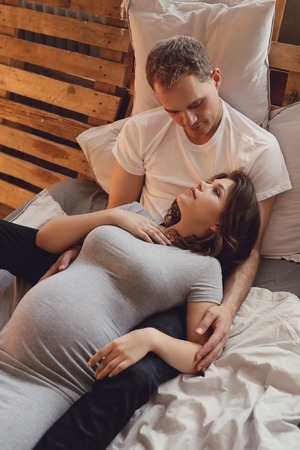 gestational: Pregnant couple Stock Photo
