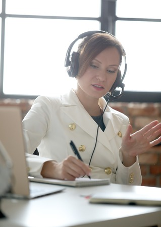 Dispatcher in the office Stock Photo