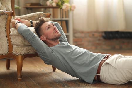 Handsome man resting