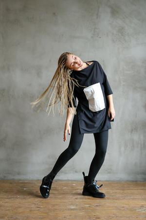 Woman with dreadlocks Stock Photo