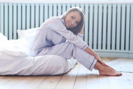 Woman in the bed Zdjęcie Seryjne