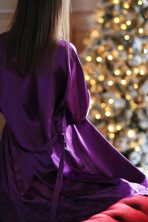 Woman in nightwear Фото со стока