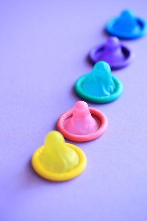 Colorful Condoms in purple