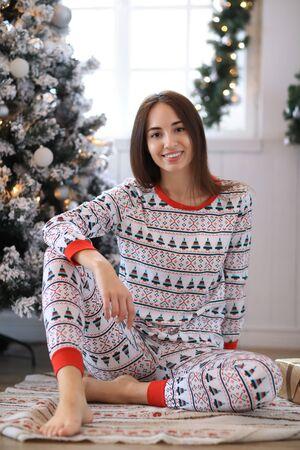 Woman in pajama