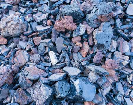 slag: dark texture of burnt coal slag stones