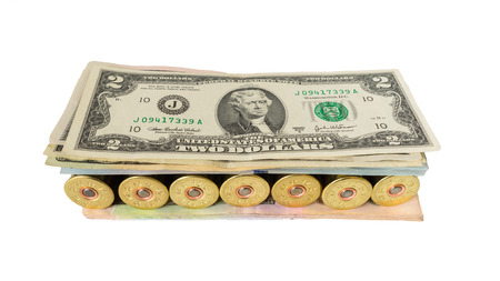 ammo: Weapon ammo pile money dollars, dangerous sandwich.