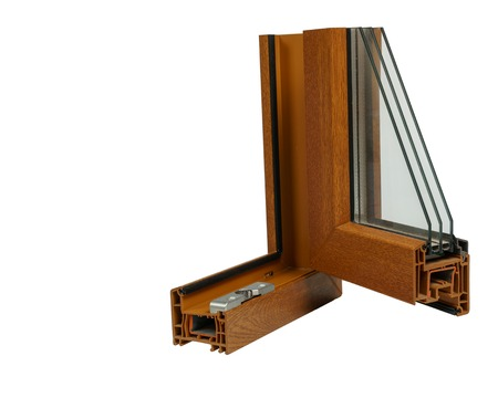 Windows section with triple glazing , home renovation concept