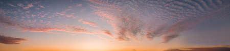 Colorful purple sunset twilight evening sky. High-resolution stitch panorama image