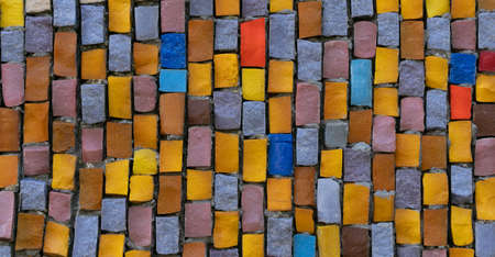 Abstract geometric mosaic, vintage colorful ethnic seamless image ornamental.