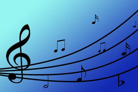 blue musical background Imagens