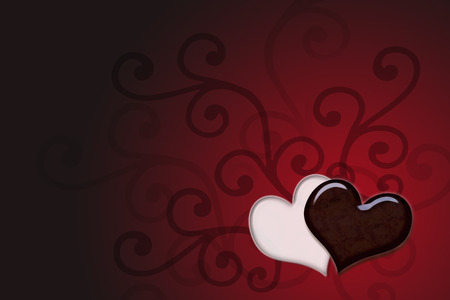 lovly background with hearts photo