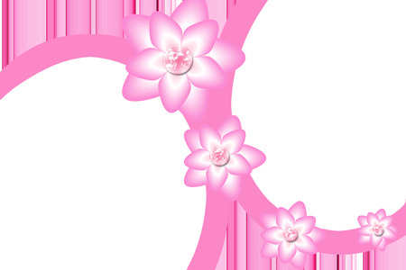 pink flowers picture border