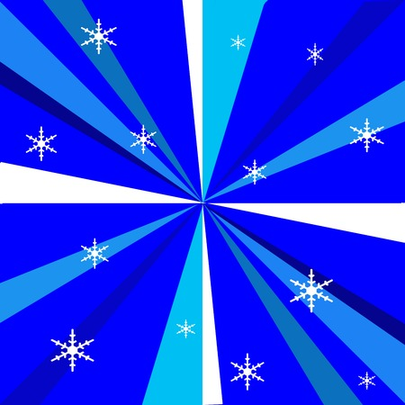 blue radiance snowflake storm Stock Photo