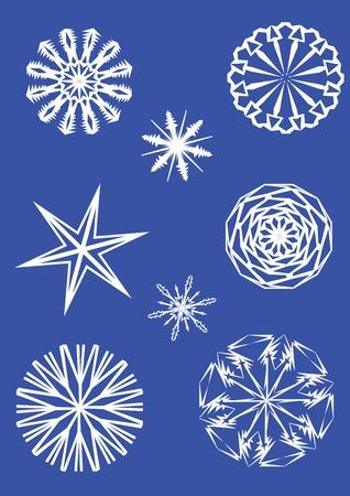 雪の結晶 2 個セット, ベクトル