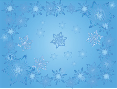 abstract blue vector christmas background with snowflakes Vector