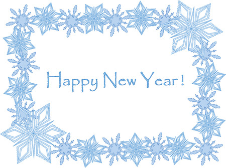 abstract vector new years card with snowflakes Vector