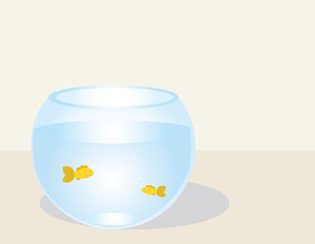 fishes in a fishbowl ,vector illustration