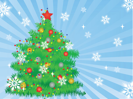 christmas tree,vector background Stock Vector - 2105955
