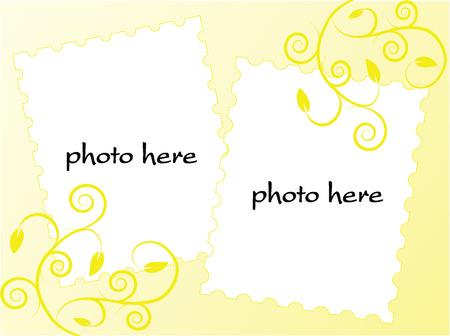 yellow picture border,vector Ilustração