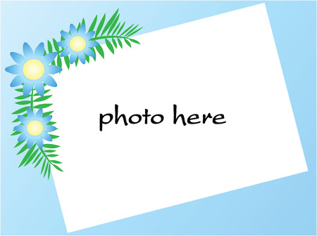 blue border for picture,vector Stock Vector - 2105938