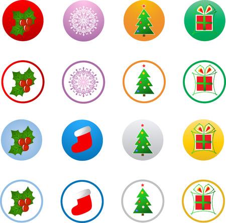 Vector christmas icon buttons Vector