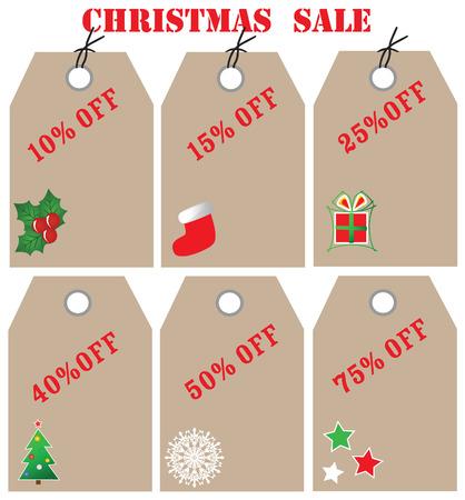 representatives: christmas sale tags,vector