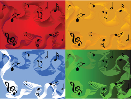 cocofonia-musical abstract illustration,vector